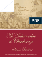 Simón Bolivar.  Mi delirio sobre el Chimborazo