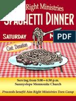 Spaghetti Dinner - May 25, 2013