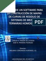 Diseño de un software para la construccion de mapas de curvas de residuo de sistemas de mezclas ternarias homogeneas