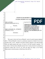 Franco Order Re Permanent Injunction