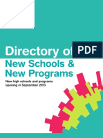 2013 Directory of New Schools and Programs