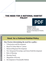 Need for a National Habitat Policy