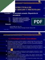 7 - El Hormigon Armado. Disposicion de Las Armaduras.
