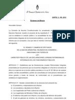 Declaraciones juradas patrimoniales de los funcionarios (Dictamen de la minoría)