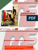 Foro Sistema Educativo Bolivariano y Su Currculo