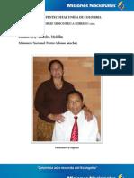 Informe Misionero a Febrero 2013 - Laureles Medellin
