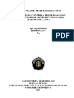 Laporan 1 Sterilisasi Dan Teknik Aseptis, Media Pertumbuhan Mikroba, Isolasi, Pemurnian Dsb