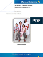 Informe Misionero a Febrero 2013-Montería-Distrito 27