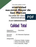Monografía de la calidad total.