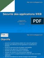 20110126 Securite Des Applications WEB Contexte 1