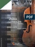 JÓVENES INTÉRPRETES 2013 - DIEGO JAÉN, PERCUSIÓN - 29.04.13