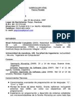Curriculum Vitae Franco Poveda