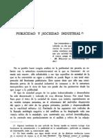Publicidad y Sociedad Industrial