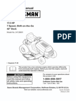 L1000-Series Craftsman 17.5HP Lawn Tractor Owners Manual