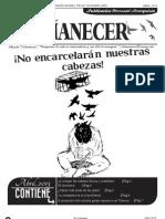Periodico Anarquista El Amanecer, Abril 2013