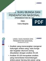 Ekonomi Makro UANG SUKU BUNGA DAN PENDAPATAN NASIONAL By Indra Maipita