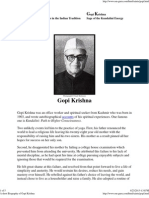 A Short Biography of Gopi Krishna