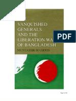 The Vanquished Generals And The Liberation War Of Bangladesh - Muntasir Mamun
