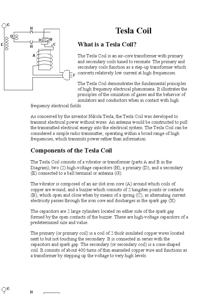 Tesla Coil Inductor Transformer Free Electricity