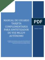 Manual de Usuario Complementario