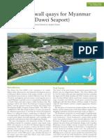 Diaphragm Wall Quays for Myanmar Mega-Port