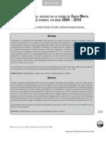 epidemiología del suicidio en la ciudad de Santa Marta (Colombia) durante los años 2004 – 2010
