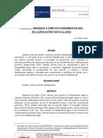 COLISÃO E RENÚNCIA A DIREITOS FUNDAMENTAIS NAS RELAÇÕES ENTRE PARTICULARES