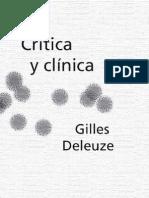 Deleuze G[1]. Critica y Clinica