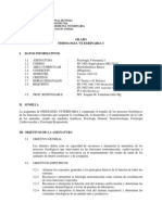 Silabo Fisiología Veterinaria I 2013-I
