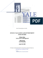 Stock Valuation and Investment Strategies