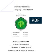 Analisis Lingkungan Internal-Ifas