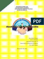 ANALICIA PAREDES.ensayo sobre El tercer lado en los medios de resolución de conflictos
