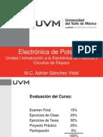 Unidad I Introducción a la Electrónica de Potencia y Circuitos de Disparo