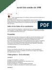 Constitución Francia  del 4 de octubre de 1958