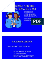 Licensure and Nurse Practice, the ins and outs