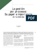 Gestion x Procesos - Importancia en La Empresa