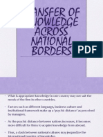 Tranfer of Knowledge Across National Borders