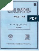 Unas 0708 Matematika B