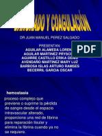Prequi SANGRADO Y COAGULACIÓN Febrero 14 Dr. Pérez Salgado para Academia