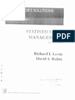 statistics for management by levin and rubin solution manual