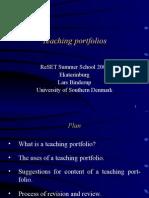 L. Binderup, Teaching Portfolios
