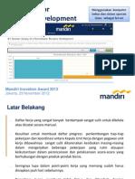 Mandiri Innovation Award 2012 @jakarta