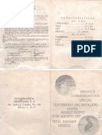 Decreto Moneda Conmemorativa Amado Nervo 1970