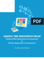 Making the Transition from Desktop Application Development to Mobile Application Development  - A Whitepaper by RapidValue Solutions