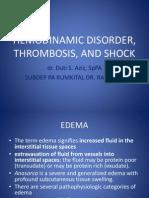 Hemodinamic Disorder, Thrombosis, And Shock