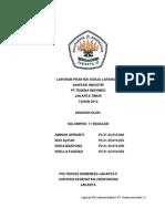 Laporan PKL Sanitasi Industri PT.tesena Inovindo Jakarta Timur 2013