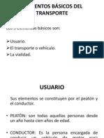 ELEMENTOS BÁSICOS DEL TRANSPORTE