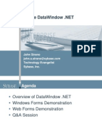 Sybase DataWindow .NET