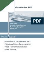Sybase DataWindow .NET