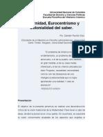 Quijano Modernidad Eurocentrismo Colonialidad (1)